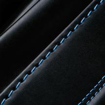 No.6 牛革ボルサ パステルクラシック ランドセル 黒/ブルー ステッチ(糸)の色