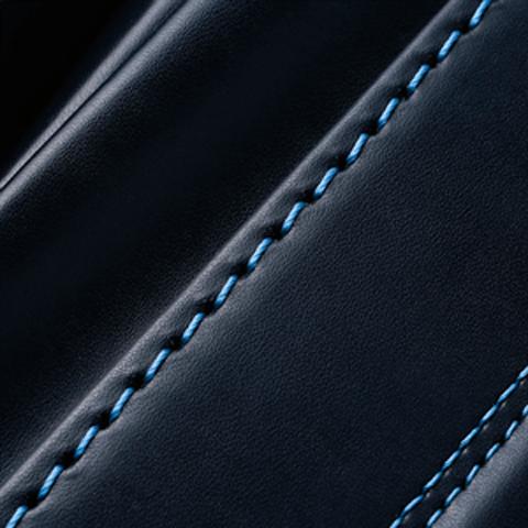 No.6 牛革ボルサパステルクラシック 紺/ブルー ステッチの色