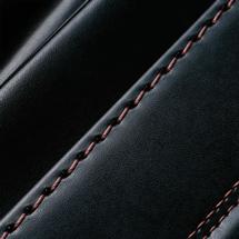 No.6 牛革ボルサ パステルクラシック ランドセル 黒/セピア ステッチ(糸)の色
