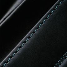 No.6 牛革ボルサ パステルクラシック ランドセル 黒/グリーン ステッチ(糸)の色