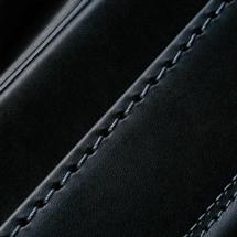 No.6 牛革ボルサ パステルクラシック ランドセル 黒/グレー ステッチ(糸)の色