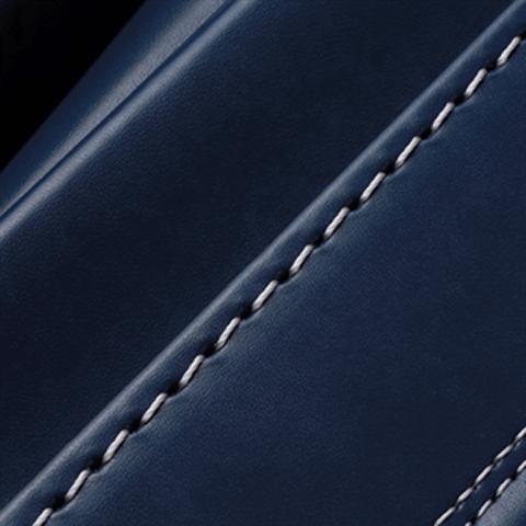 No.6 牛革ボルサパステルクラシック インディゴブルー ステッチの色