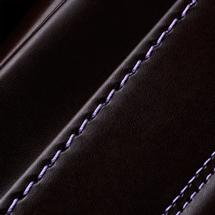 No.6 牛革ボルサ パステルクラシック ランドセル 茶/ラベンダー ステッチ(糸)の色