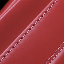 No.6 牛革ボルサ パステルクラシック ランドセル カーマインレッド ステッチ(糸)の色