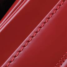 NO.8 馬革コードバン ランドセル 赤 ステッチ(糸)の色