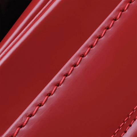 No.8 馬革コードバン 赤 ステッチの色