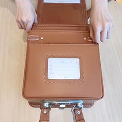 中村鞄ランドセルのファスナーポケット