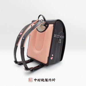 ハートモデル 茶ピンク / 中村鞄のランドセル